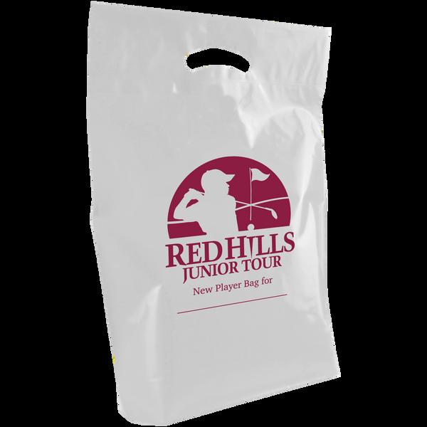plastic bags,  breast cancer awareness bags,
