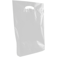 Frosted Clear Medium Eco-Friendly Die Cut Plastic Bag Thumb