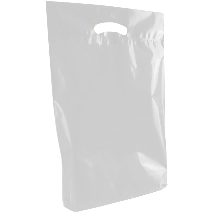Frosted Clear Medium Eco-Friendly Die Cut Plastic Bag