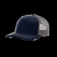 Navy/Charcoal Richardson Trucker Snapback Hat Thumb