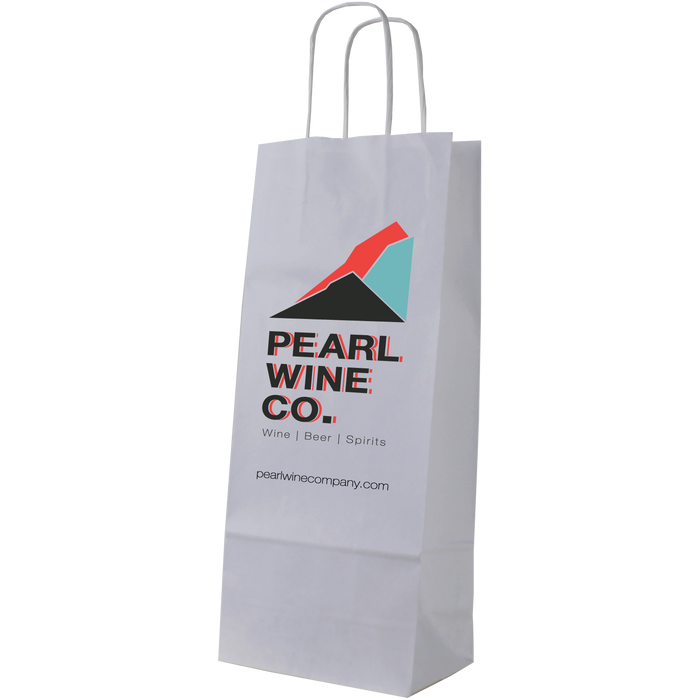 1 Bottle White Paper Bag