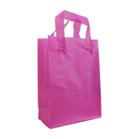 Pink Small Frosted Plastic Shopper Thumb