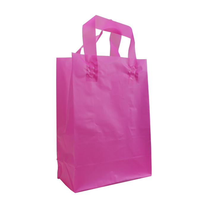 Pink Small Frosted Plastic Shopper