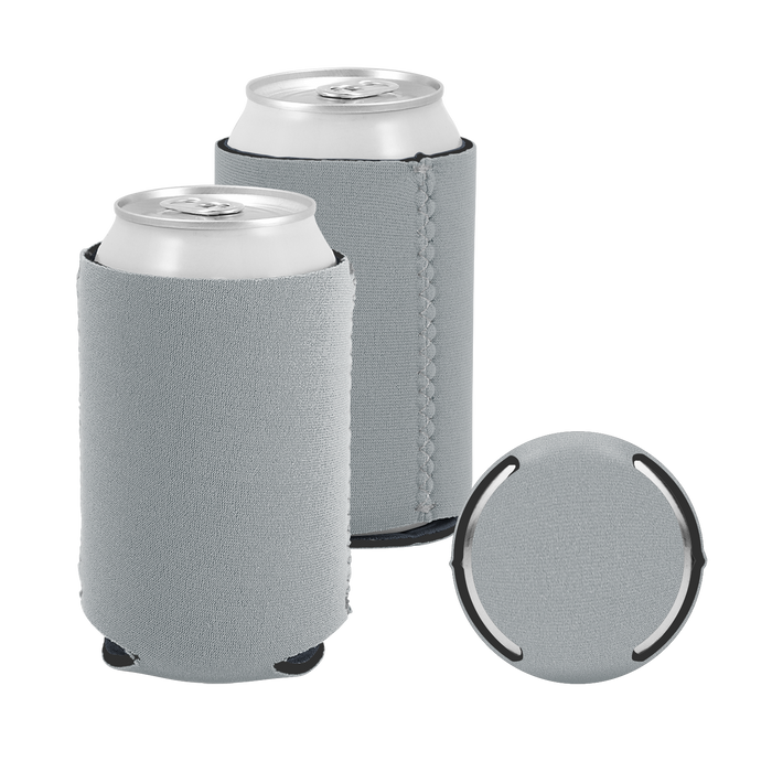 Gray Premium Collapsible Neoprene Koozie