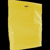 Yellow Large Eco-Friendly Die Cut Plastic Bag Thumb