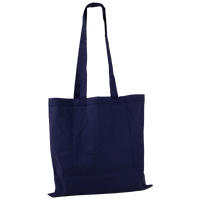 Navy Blue Basic Cotton Tote Thumb