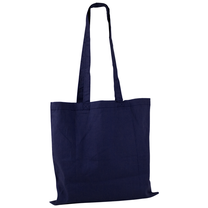 Navy Blue Basic Cotton Tote