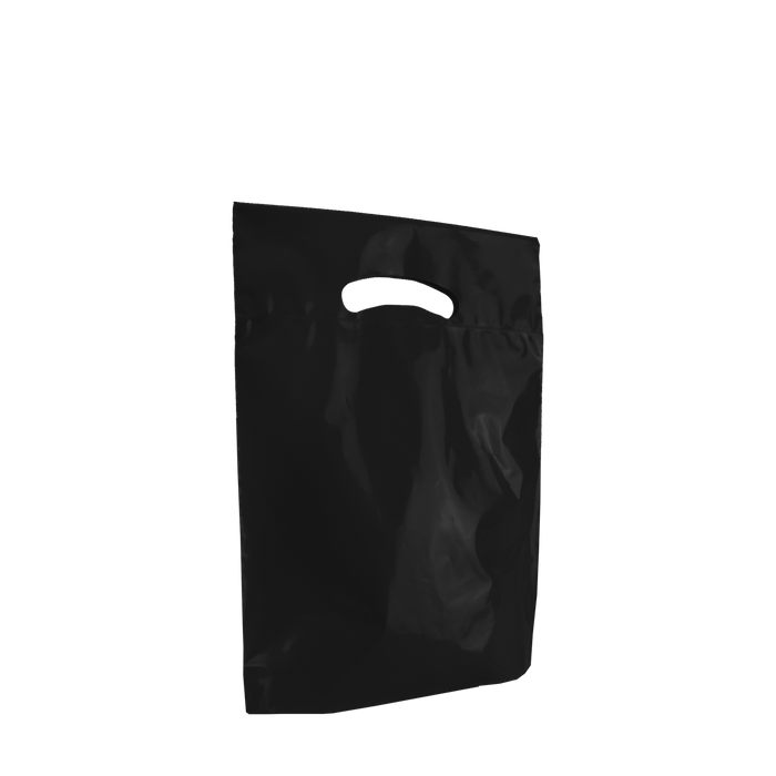Black Small Eco-Friendly Die Cut Plastic Bag