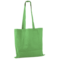 Lime Green Basic Cotton Tote Thumb