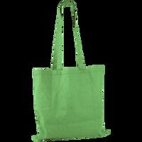 Lime Green Basic Cotton Tote Thumb