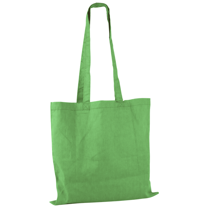 Lime Green Basic Cotton Tote