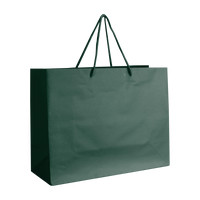 Hunter Green Medium Matte Shopper Bag Thumb