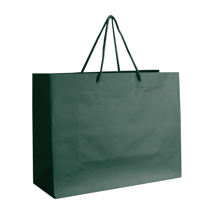 Hunter Green Medium Matte Shopper Bag
