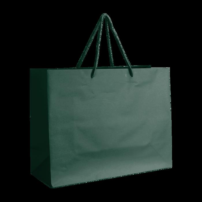 Hunter Green Medium Matte Shopper Bag