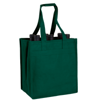 Hunter Green 6 Bottle Wine Tote Thumb