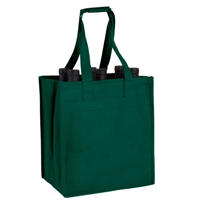 Hunter Green 6 Bottle Wine Tote