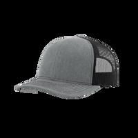 Heather Grey/Black Richardson Trucker Snapback Hat Thumb
