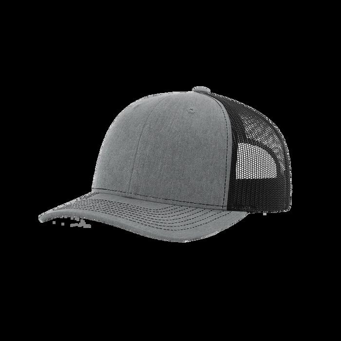 Heather Grey/Black Richardson Trucker Snapback Hat