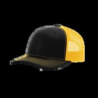 Black/Gold Richardson Trucker Snapback Hat Thumb