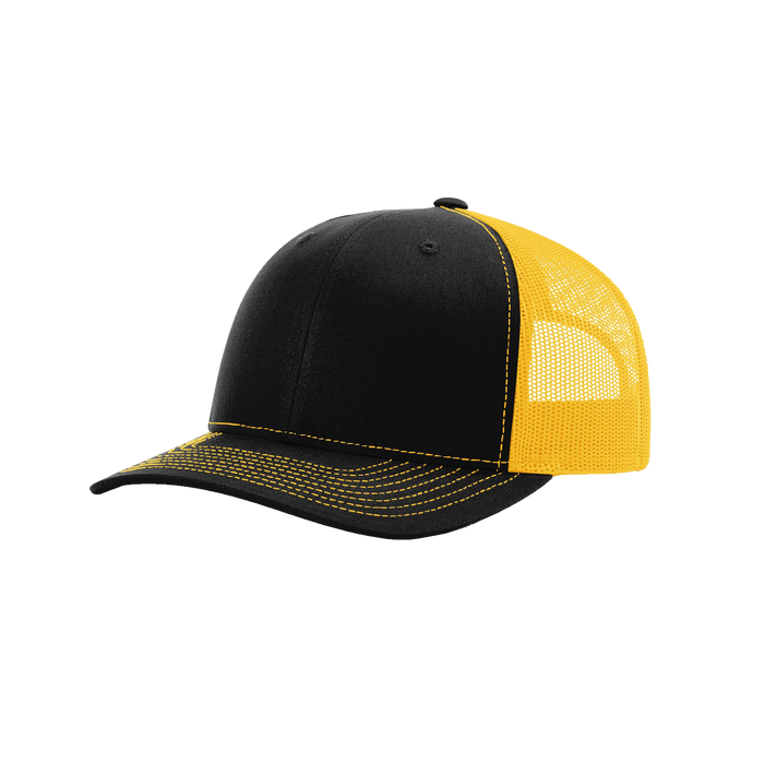 Black/Gold Richardson Trucker Snapback Hat
