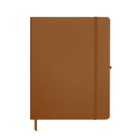 Tan Large Soft Faux Leather Journal Thumb