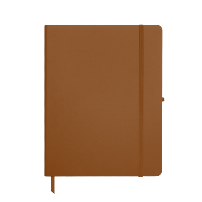 Tan Large Soft Faux Leather Journal