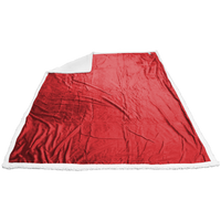 Red Breckenridge Faux Lambswool Blanket Thumb