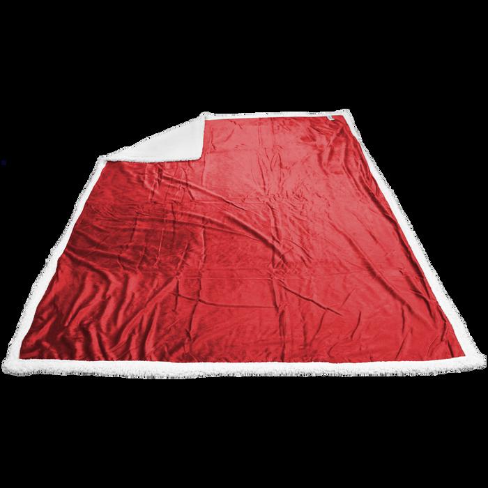 Red Breckenridge Faux Lambswool Blanket