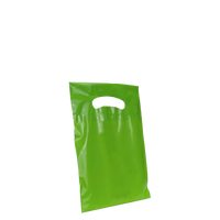 Lime Extra Small Eco-friendly Die Cut Plastic bag Thumb