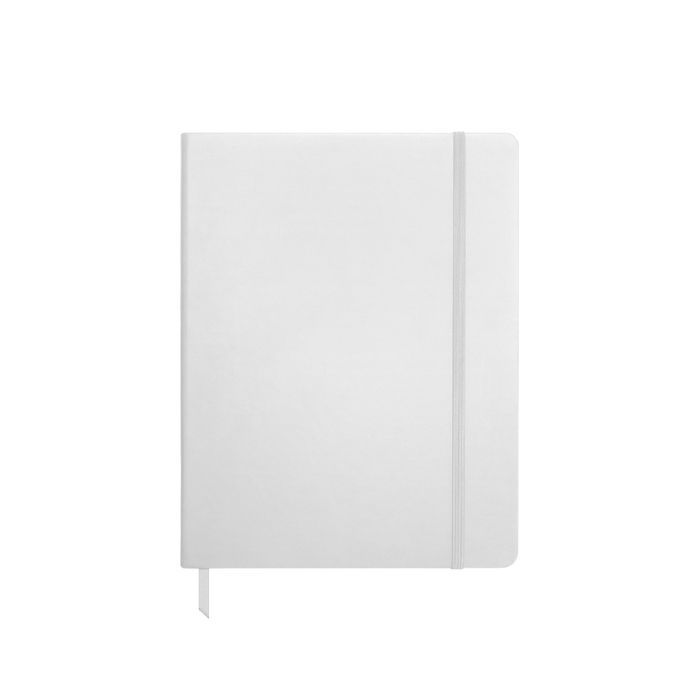 White Medium Soft Faux Leather Journal
