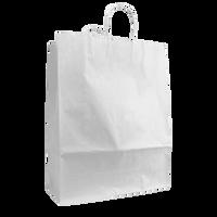 White Tall White Paper Bag Thumb