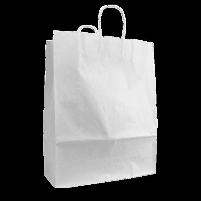White Tall White Paper Bag