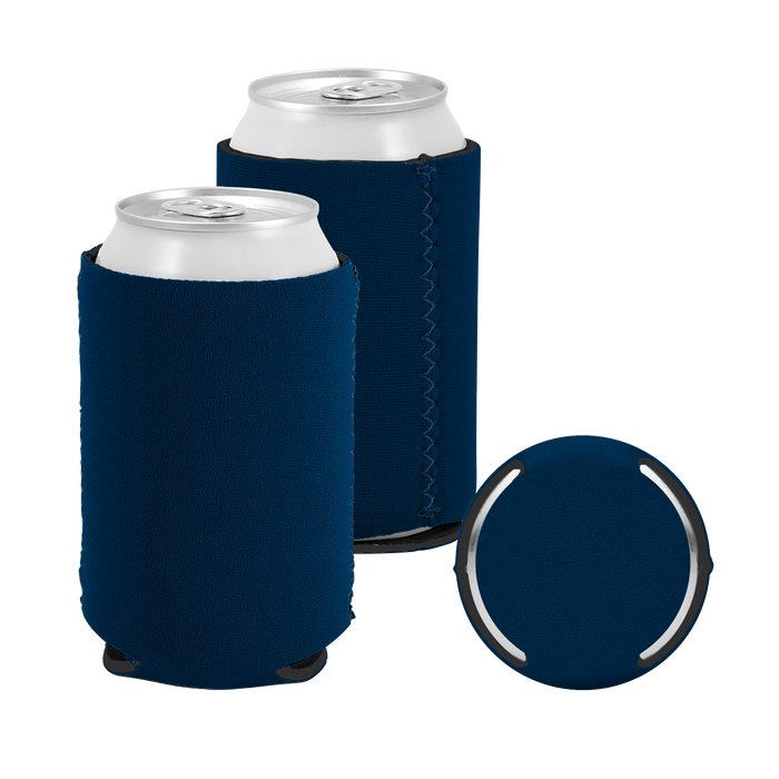 Navy Premium Collapsible Neoprene Koozie