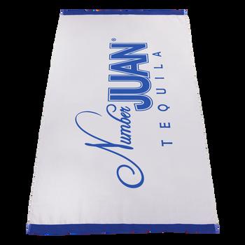 embroidery,  silkscreen imprint,  white beach towels,
