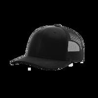 Black Richardson Trucker Snapback Hat Thumb