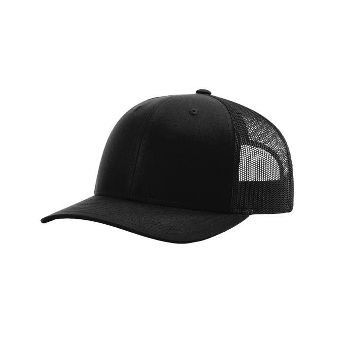 Black Richardson Trucker Snapback Hat