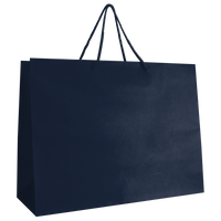 Navy Blue Large Matte Shopper Bag Thumb