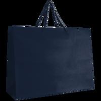Navy Blue Large Matte Shopper Bag Thumb