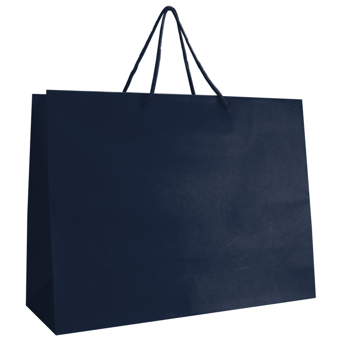 Navy Blue Large Matte Shopper Bag