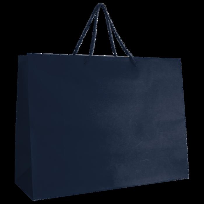 Navy Blue Large Matte Shopper Bag