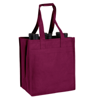 Burgundy 6 Bottle Wine Tote Thumb