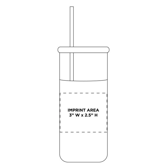 Glass Tumbler with Straw