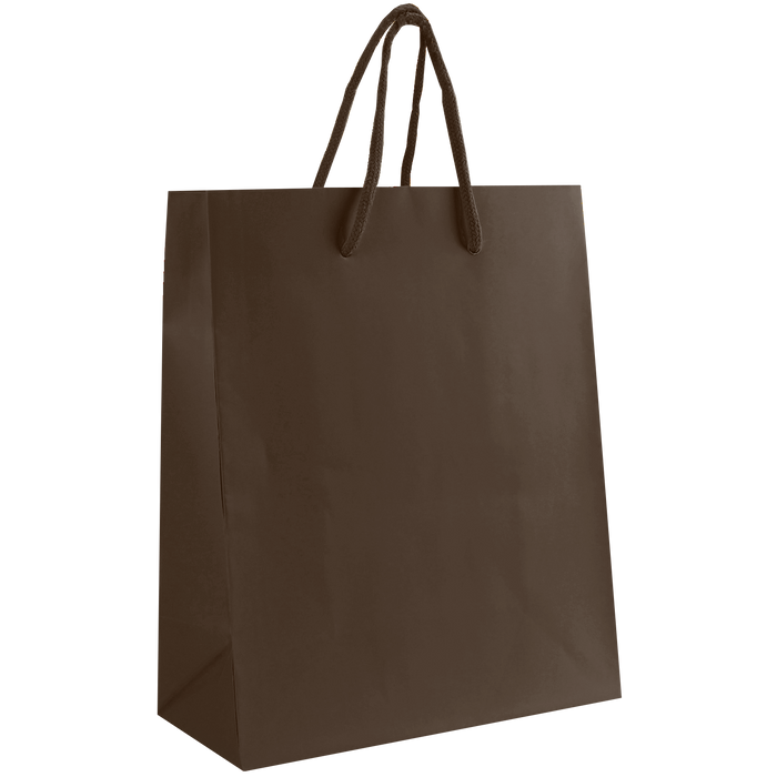 Chocolate Small Matte Shopper Bag