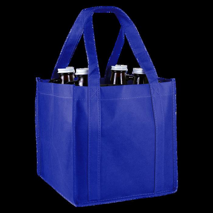 Royal Blue 4 Bottle Growler Tote