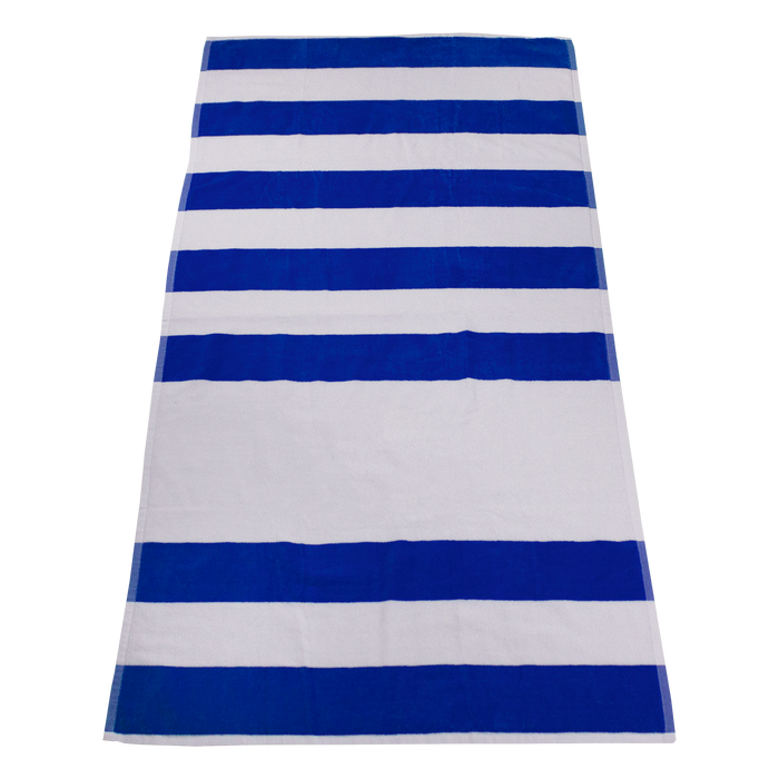 Royal Horizon Striped Beach Towel
