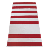 Red Horizon Striped Beach Towel Thumb
