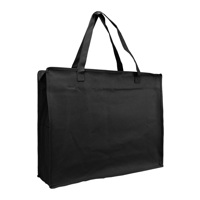 Black Zip-Up Convention Tote Plus
