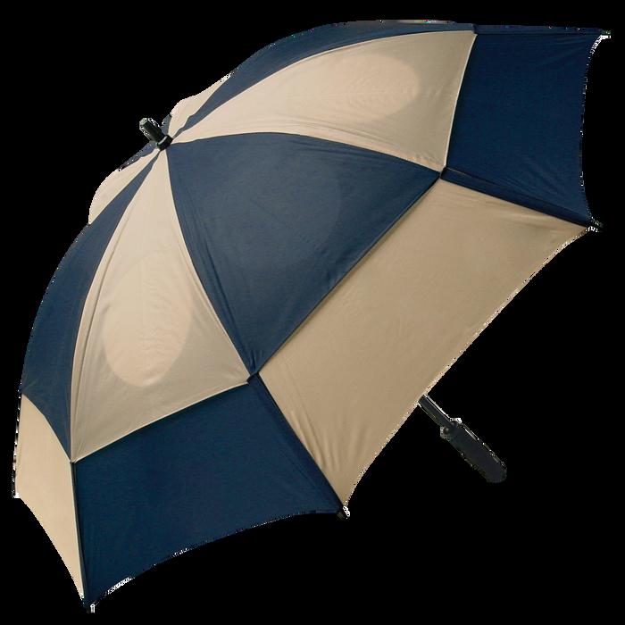 Navy/Tan Gemini Umbrella