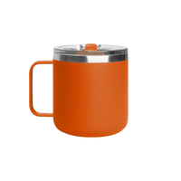 Matte Orange Stainless Steel Insulated Camper Mug Thumb