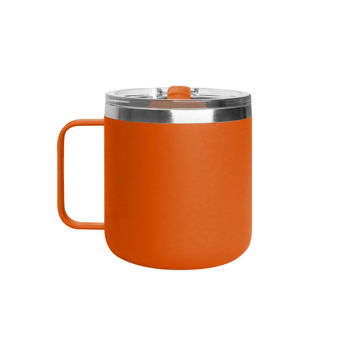 Matte Orange Stainless Steel Insulated Camper Mug